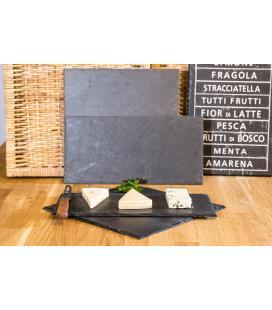 Platos y bandejas rectangulares de pizarra