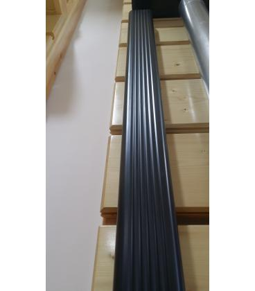 Canalones de aluminio lacado best canaln de pvc with - Canalon aluminio precio ...