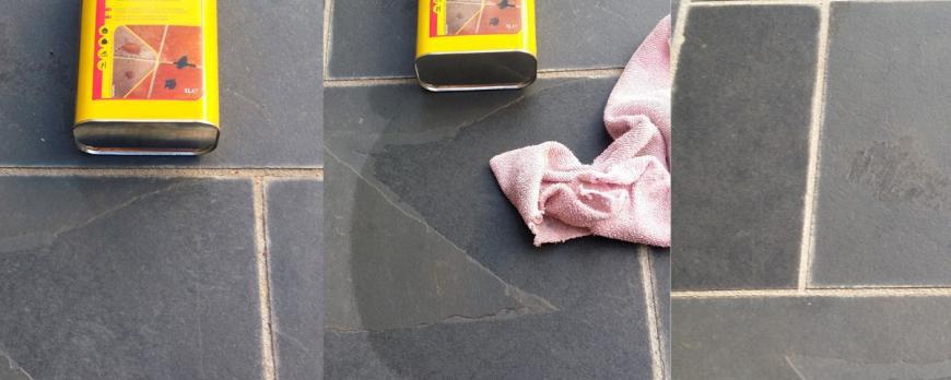¿Qué producto aplicar para que no se manche la pizarra: tableros, peldaños, losas, baldosas etc.?